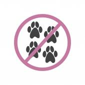 Pets are not allowed — Stock Vector