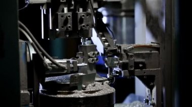 Tech machine at the factory. Processing details — Stok video