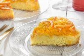 Mandarin cake — Stock Photo