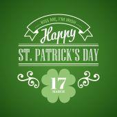 Typography St. Patrick Day. Vector illustration — Stockvektor