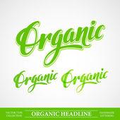 Tytuł organicznych napis — Wektor stockowy