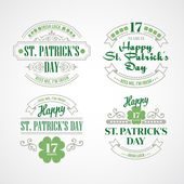 Typography St. Patricks Day. Vector illustration EPS 10 — Stock vektor