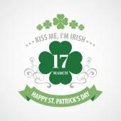 Typography St. Patricks Day. Vector illustration EPS 10 — Stok Vektör