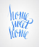 Sweet home lettering — Stock Vector