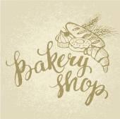 Baking Shop card — Vector de stock