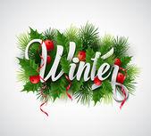 Christmas card design — Stock Vector