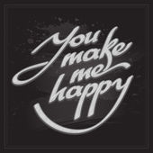 Inscription You make me happy — Stock Vector