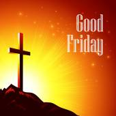 Good Friday. Vector illustration with the image of Calvary — Stock Vector