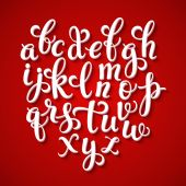 The original alphabet. Hand-made lettering — Stock Vector