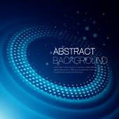 Vector background with glowing space orbit — Stock Vector