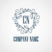 Monogram Logos. Vintage Vector Concepts. — Stock Vector