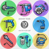 Power tool set. Vector illustration — Stock Vector