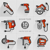 Power tool set. Vector illustration — Vetor de Stock
