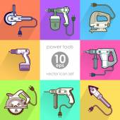 Power tool set. Vector illustration — Vector de stock