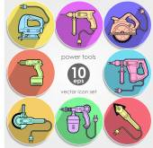 Power tool set. Vector illustration — Wektor stockowy