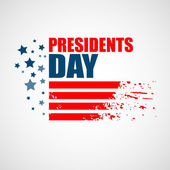 Presidents Day Vector Background — Stock Vector