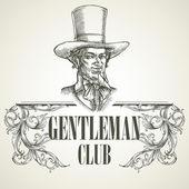 Gentlemens club design — Stock Vector