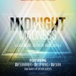 Midnight Madness Party. Template poster. Vector illustration — Stock Vector #70674133