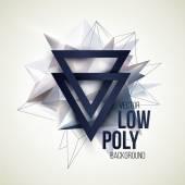 Low poly triangular background. Design element. Vector illustration — 图库矢量图片
