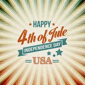 Independence Day typography card. Vector illustration — Stock Vector