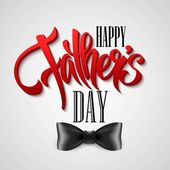 Happy Fathers day greeting card. Vector illustration — 图库矢量图片