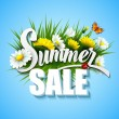 Summer And Spring Sale Template Vector Illustration — Stock Vector #72973563