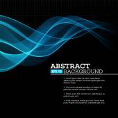 Abstract blue shining wave background. Vector illustration — Stockvector