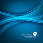 Abstract modern background with blue waves — Stock Vector