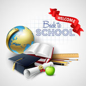Welcome back to school. Vector illustration — Stock Vector