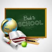 Zurück zu Schule Hintergrund. Vektor-illustration — Stockvektor