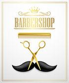 Poster Barbershop welcome. Vector Illustration — Stock Vector