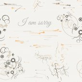 I Am Sorry seamless pattern in abstract style — Stock Vector