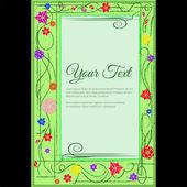 Elegante vektor-schriftzug im abstrakten stil mit platz für text. ideal für einladungen, grußkarten, speichern sie das datum. — Stockvektor