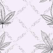 Feuilles de modèle abstrait vectorielle continue avec de la Marijuana colorée — Vecteur