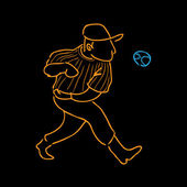 Baseball-Spieler — Stockvektor