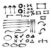 Doodle line and arrow cartoon — Stok Vektör