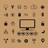 Počítač ikony — Stock vektor