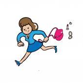 Businesswoman hurry — Stock Vector