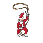 Cowboy Santa character — Stock Vector