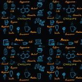 Pattern coffee — Stock Vector