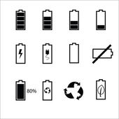 Battery status icons set — Stock Vector