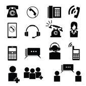 Telefon och operatören ikoner — Stockvektor