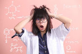 Asian scientist gets mad — Stock Photo