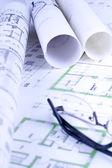Blueprint, sketch — Stock Photo