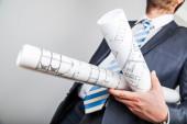 Architect blueprint — Stock Photo