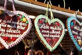 Hearts octoberfest — Stock Photo