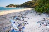 Beach garbage — Zdjęcie stockowe
