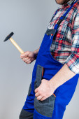 Wrench, tong, hammer — Stock Photo