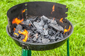 Preparation outdoor grill bbq — Stock Photo