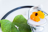 Stethoscope alternative medicine — Stock Photo